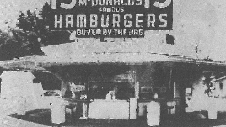 Das Original-Restauraunt der McDonald's-Brüder in San Bernadino, Kalifornien.