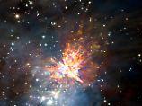In echt sicherlich noch beeindruckender: eine Sternexplosion