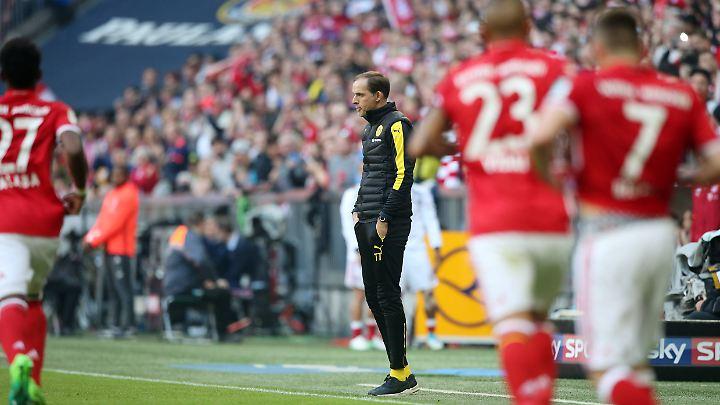BVB-Trainer Thomas Tuchel war mit seiner Borussia in München chancenlos - und nahm das klaglos hin.