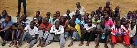 In Libyen gestrandete afrikanische Flüchtlinge.