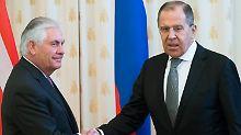 US-Außenminister in Russland: Moskau bereitet Tillerson eisigen Empfang