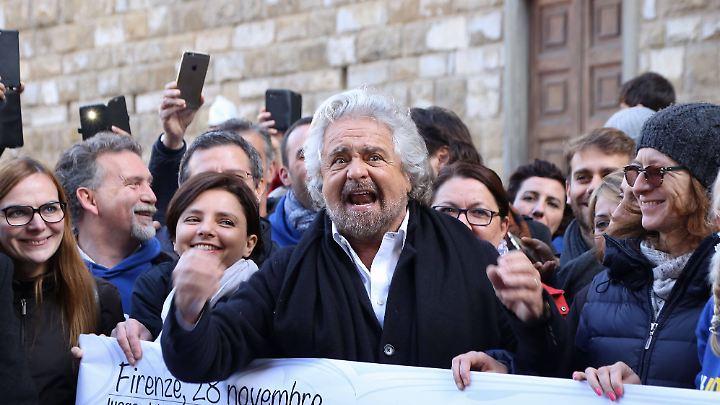 Die Grillini sind pragmatisch veranlagt, frei von jeglicher Ideologie, sagt Piero Ignazi. Im Bild: Beppe Grillo, Gründer und Chef der Bewegung.