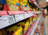 Geringer Preisanstieg bei Lebensmitteln.