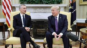 Auch Nato-Generalsekretär Jens Stoltenberg war bereits im Oval Office.