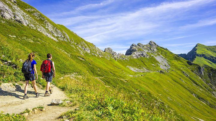 Naturfreunde unterwegs im Allgäu.