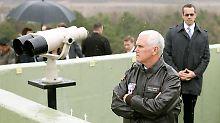 An der Grenze zu Nordkorea: Pence besucht entmilitarisierte Zone
