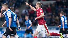 Pole Position im Aufstiegsrennen: Terodde schießt VfB zurück an die Spitze