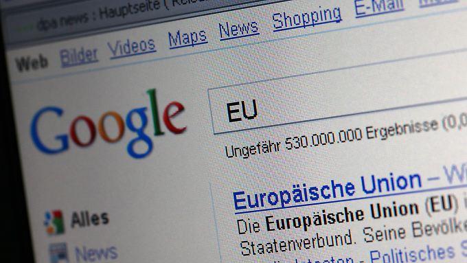 Auch in der Europäischen Union gibt es den Vorwurf, Google missbrauche seine Marktstellung.