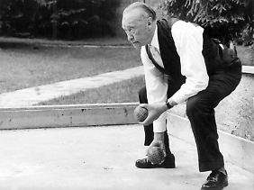 Boccia war das Lieblingsspiel des Altkanzlers.