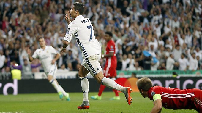 Hin- und Rückspiel zusammengerechnet, erzielte Cristiano Ronaldo gegen den FC Bayern stattliche fünf Tore.