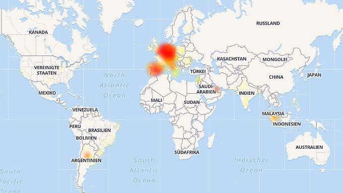 Vor allem in Mitteleuropa scheint es Whatsapp-Störungen zu geben.