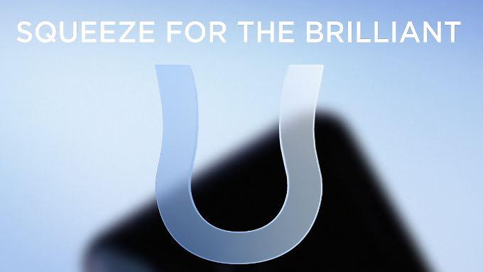 Ein an den Seiten eingedrücktes U: So kündigt HTC sein nächstes Smartphone an.