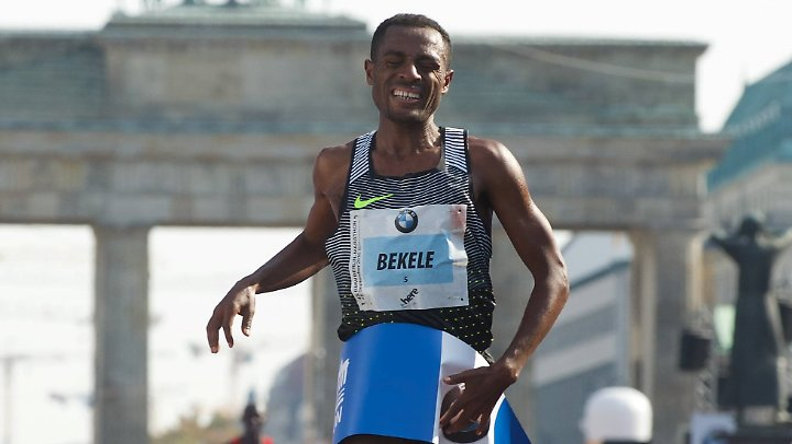 Zweitbeste Zeit der Geschichte: Kenenisa Bekele 2016 in Berlin.