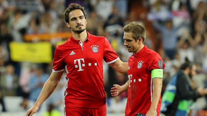 Neulich im Bernabéu: Mats Hummels und Philipp Lahm.