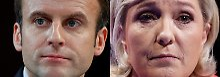 Präsidentenwahl in Frankreich: Hochrechnung: Macron und Le Pen erreichen Stichwahl