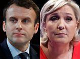 Präsidentenwahl in Frankreich: Macron und Le Pen erreichen Stichwahl