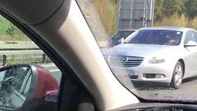 Dreistes Manöver auf A71: Geisterfahrer rast durch Rettungsgasse