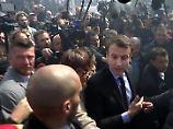 Tumulte vor Werk in Amiens: Le Pen torpediert Macron-Wahlkampf