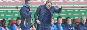 Das war nichts: Die Partie gegen den Abstiegskonkurrenten FC Augsburg vermasselt der HSV komplett.