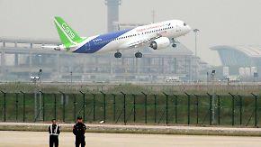 """Konkurrenz für A320 und Boeing 737?: Erstes Passagierflugzeug """"Made in China"""" absolviert Jungfernflug"""