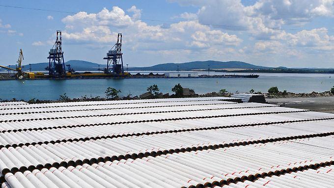 Für den Bau der Turkstream plant Gazprom mit 75.000 Rohren.