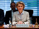 Verteidigungsministerin Ursula von der Leyen wird heute bei der Sondersitzung des Verteidigungsausschusses aussagen.