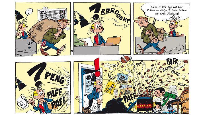 """Tim Struppi 3 Gratis Malvorlage In Comic: """"Gaston"""" Beim Gratis Comic Tag: Im Büro Ist Der Wahnsinn"""