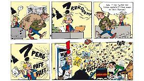 """Ein """"Gaston""""-Strip aus der Frühzeit - Franquins Stil ist noch nicht voll entwickelt."""