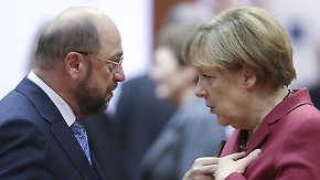 Merkel und Schulz in NRW: Parteichefs starten große Charmeoffensive vor Landtagswahl
