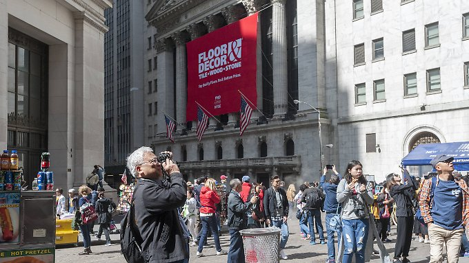 Nicht nur bei den Touristen herrscht Hochstimmung an der Wall Street.