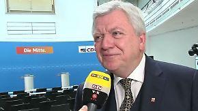 """Bouffier zur Lage der CDU: """"Wir werden uns nicht nur auf die Kanzlerin verlassen"""""""