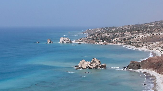 Die sagenumwobene Bucht, der Aphrodite entstiegen sein soll.