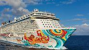 """Mit 4000 Passagieren an Bord: """"Norwegian Getaway"""" kreuzt auf der Ostsee"""