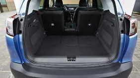 Mit 410 Liter Kofferraumvolumen gehört der Opel Crossland X schon zu den Großen.