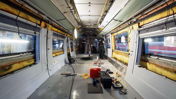 Die Innenausstattung des ICE-3 wird komplett ausgetauscht.
