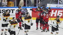 Kanada lässt Traum zerplatzen: Deutschland fliegt bei Eishockey-WM raus