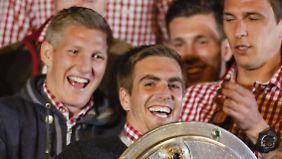Schweinsteiger und Lahm waren lange ein Dreamteam bei den Bayern und in der Nationalmannschaft.