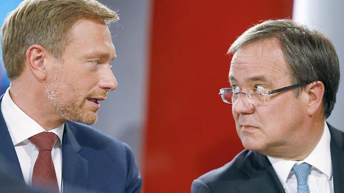Sehen die Bereitschaft zu fairen Einigungen: Christian Lindner und Armin Laschet.