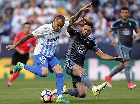 Sandro Ramirez traf in der Liga 16 Mal - auch bei Malagas Sieg über den FC Barcelona.