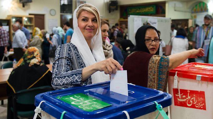 Die Wahlbeteiligung im Iran war hoch.