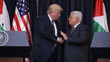 Trump in Bethlehem: Abbas will Palästina in Grenzen von 1967