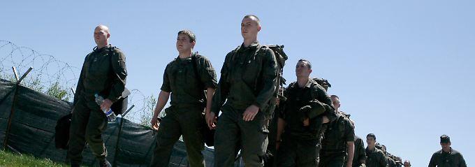 Österreichische Soldaten im Einsatz für die Mission KFOR.