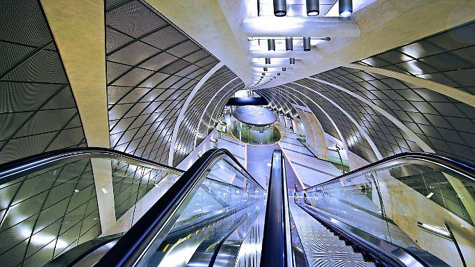 Die U-Bahn-Station am Kölner Heumarkt: Mit dem AEG-Verbindungstunnel hat das kaum mehr was gemeinsam.
