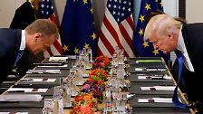 Seine Bündnispartner derart zu attackieren, ist beim Nato-Gipfel unüblich. Schließlich bemüht man sich darum, Einigkeit zu demonstrieren.