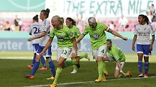 Erst die Schale, jetzt der Pokal: VfL Wolfsburg ist Double-Gewinnerin