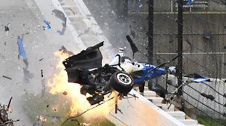 Horror-Crash beim Indy 500: Auto des viermaligen Meisters Dixon wird völlig zerfetzt