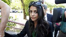 Die Schauspielerin Sara Casasnovas bei der Gerichtsverhandlung um ihren Stalker 2010 in Spanien.