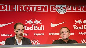 Vereinsvorstand Oliver Mintzlaff und Sportdirektor Ralf Rangnick betonen, dass das Geschäft von RB normal ablaufe.