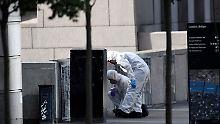 Am Morgen nach dem Anschlag laufen die Ermittlungen auf Hochtouren.