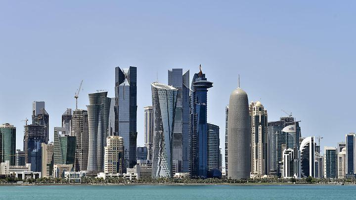 Skyline von Doha, der Hauptstadt von Katar